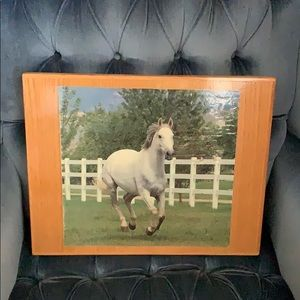Other - 11x14 wooden framed horse picture